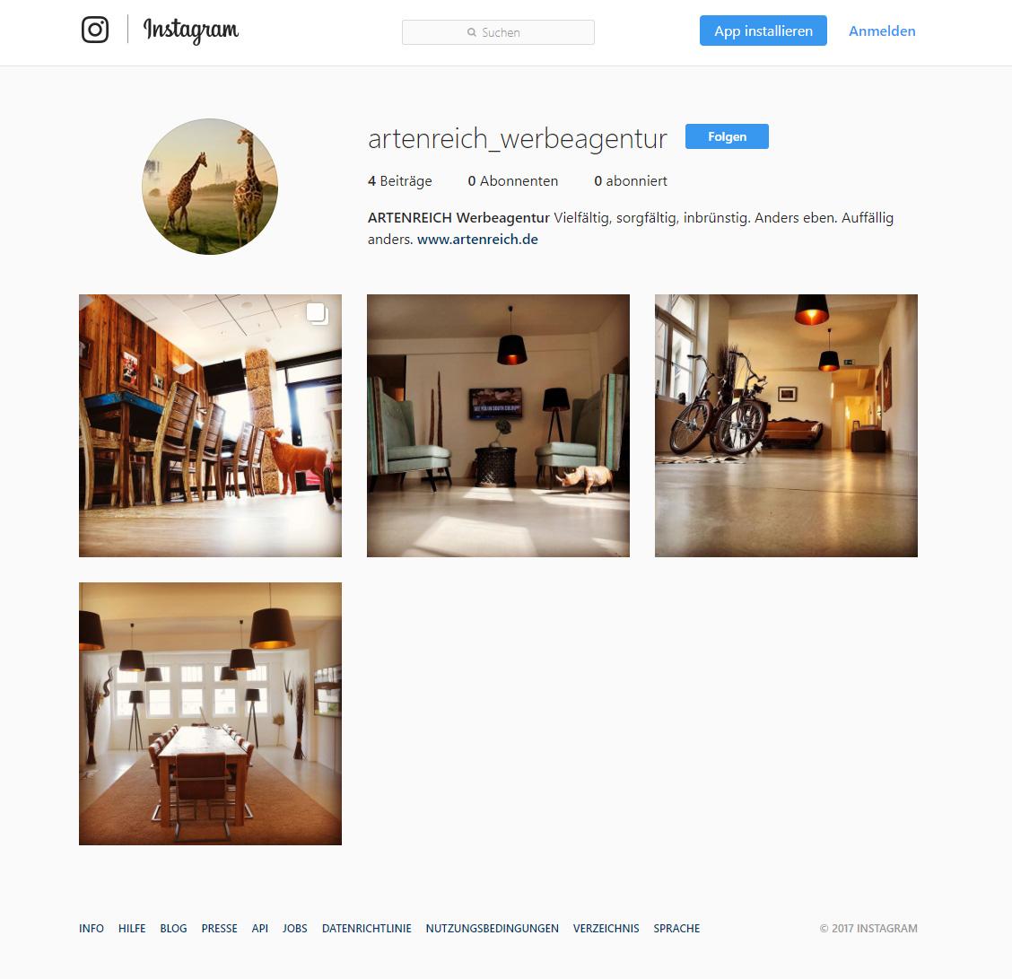 ARTENREICH fotowirbelt jetzt auch bei Instagram mit