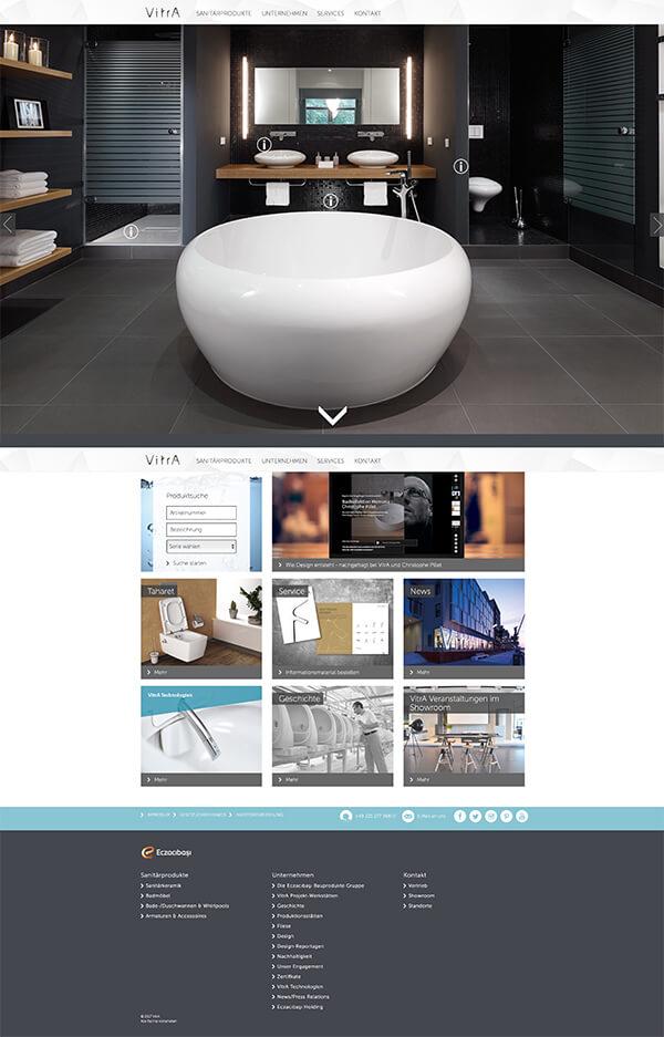 Startseite von VitrA Bad